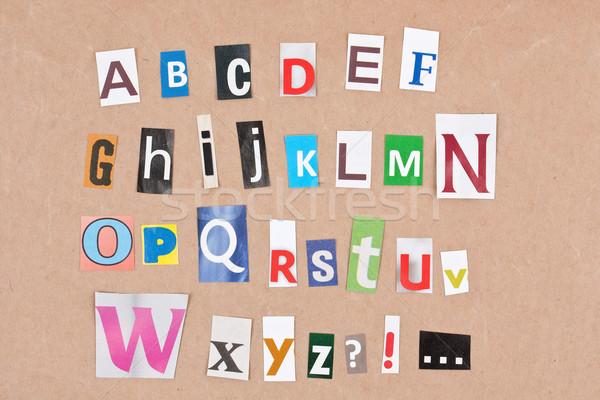 Alphabet Stock photo © grafvision