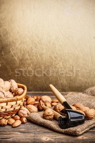 静物 ナッツ フルーツ 多くの シェル ストックフォト © grafvision