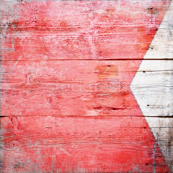 Nemzetközi jel zászló festett koszos fa Stock fotó © grafvision