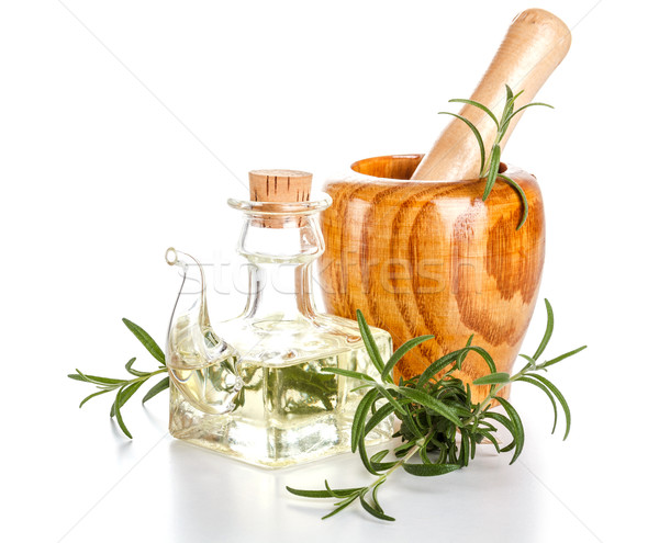 óleo de girassol alecrim saúde Óleo cozinhar recipiente Foto stock © grafvision