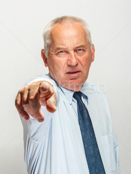 Empresário indicação homem terno financiar gerente Foto stock © grafvision