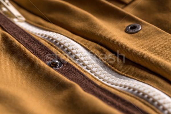 куртка молния коричневый цвета одежды Сток-фото © grafvision