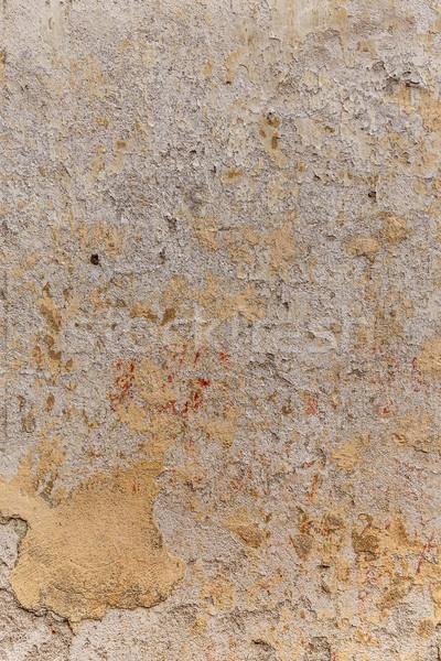 Gipsu ściany uszkodzony streszczenie tle architektury Zdjęcia stock © grafvision