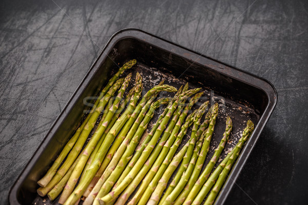Raw asparagus Stock photo © grafvision