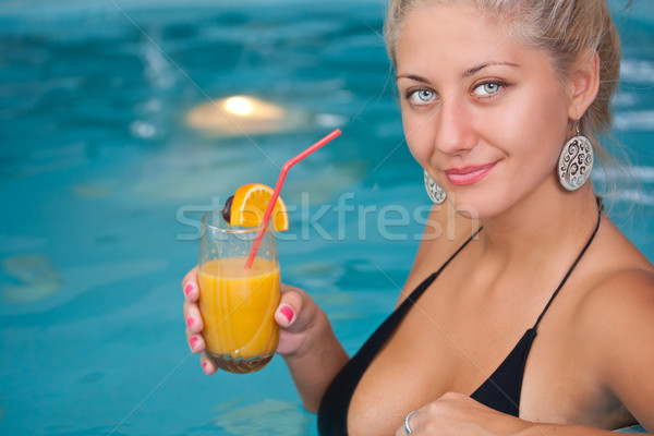 Young beautiful woman in jacuzzi  Stock photo © grafvision