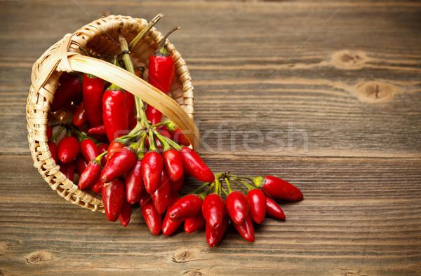 Mand voedsel groene Rood bamboe Stockfoto © grafvision