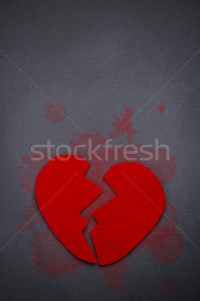 Red broken heart Stock photo © grafvision