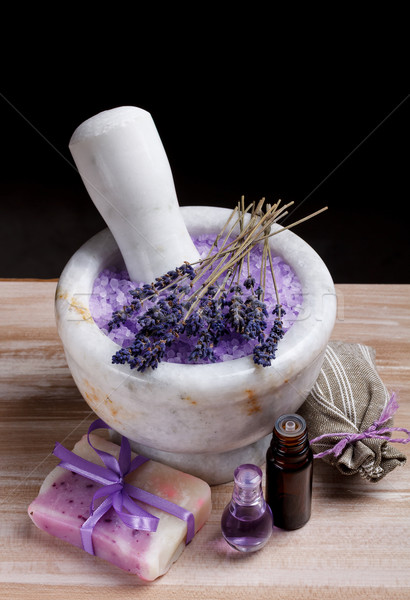 Lavender spa setting Stock photo © grafvision