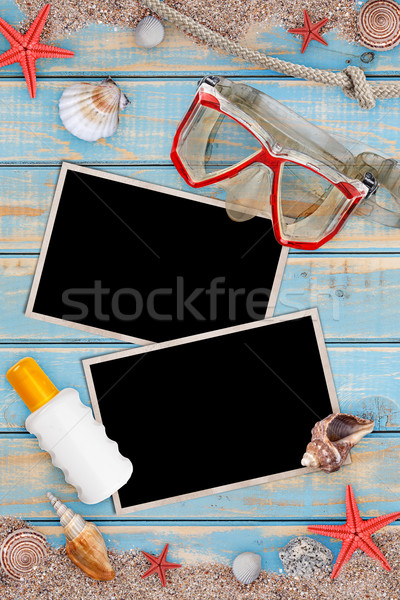 Summer holiday items Stock photo © grafvision