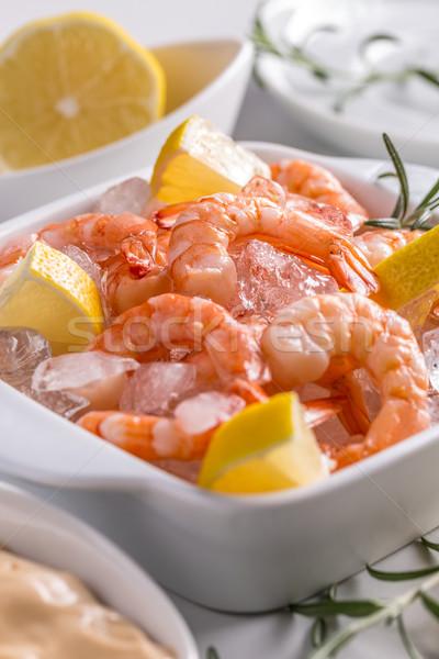 Tasty prawns Stock photo © grafvision