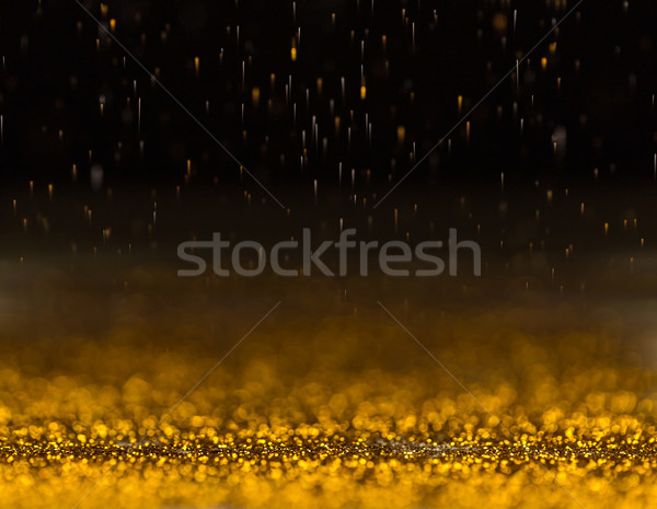 Gold glittering sparkle Stock photo © grafvision