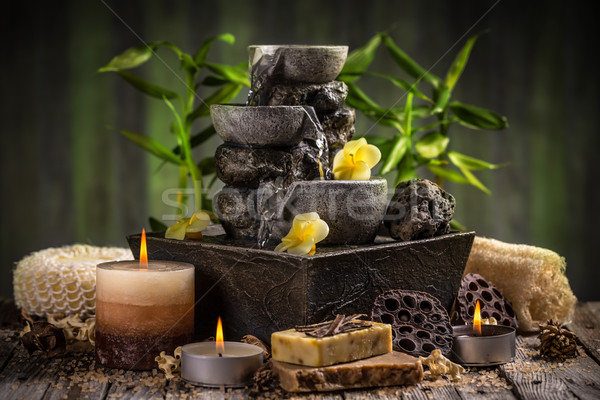 Stock photo: Composition of spa treatment