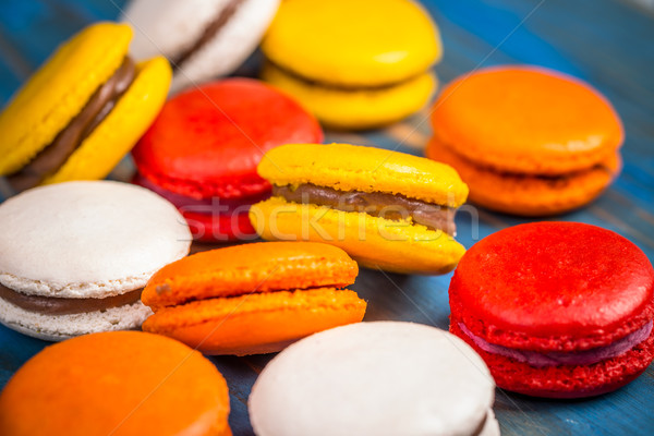 Colorful macarons  Stock photo © grafvision