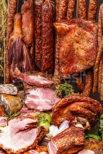 Delicatessen pork meats Stock photo © grafvision