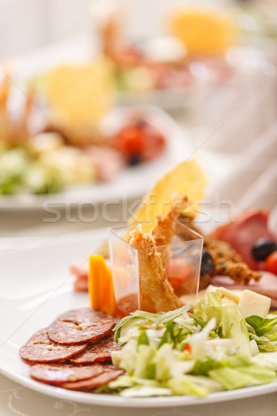 Delicious appetizer plate  Stock photo © grafvision