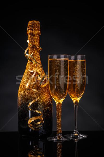 Champán gafas listo nuevos año fiesta Foto stock © grafvision