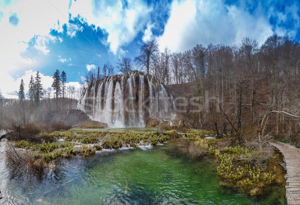 Printemps vue belle cascades parc Croatie Photo stock © grafvision