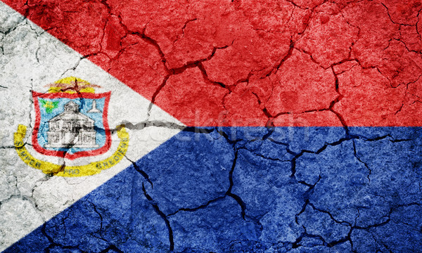 Sint Maarten flag Stock photo © grafvision