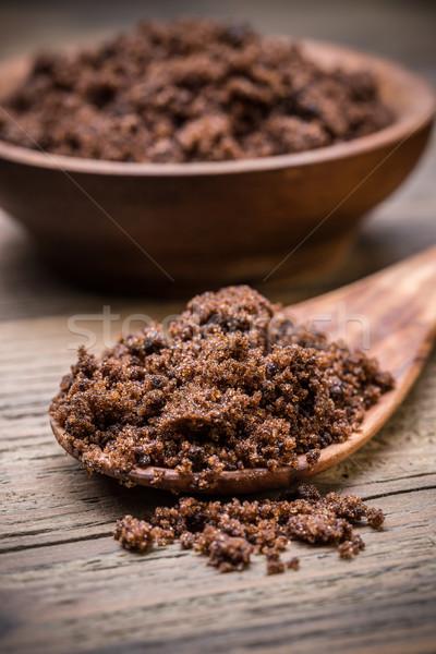 Cassonade cuillère rustique bois sweet sucre Photo stock © grafvision