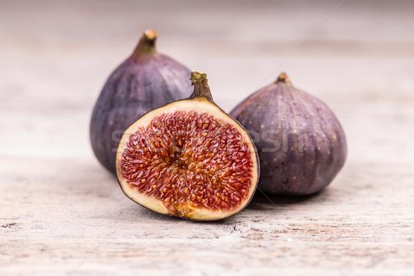 Rijp zoete vers witte houten vruchten Stockfoto © grafvision