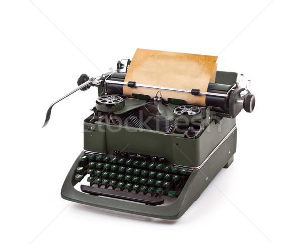 öreg klasszikus írógép lap papír billentyűzet Stock fotó © grafvision