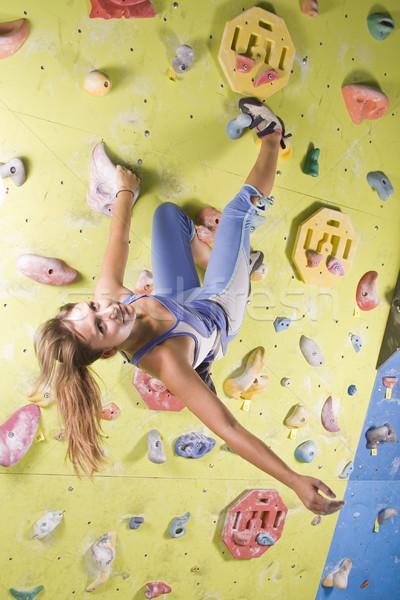 アスレチック 少女 登山 かなり 小さな ストックフォト © grafvision