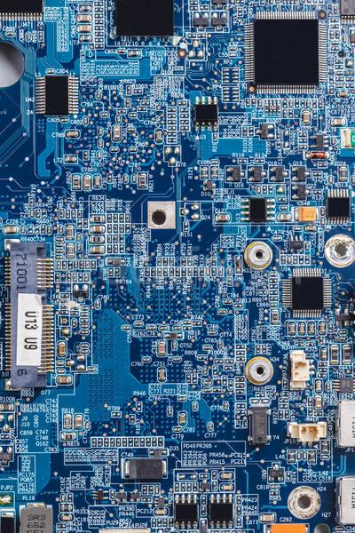 Kék számítógép nyáklap közelkép nyomtatott háttér Stock fotó © grafvision