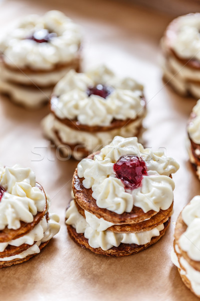 Mille-feuille is made up of three layers of puff pastry Stock photo © grafvision