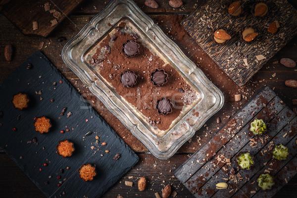 Fine chocolate pralines Stock photo © grafvision
