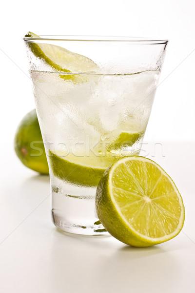 Vodka cal gelo branco festa vidro Foto stock © grafvision