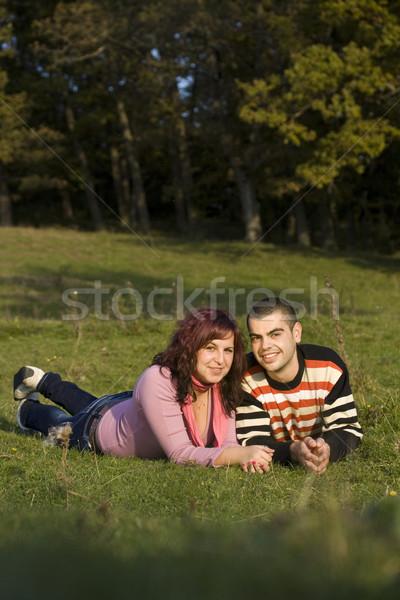 Sevmek çift mutlu güzel gün Stok fotoğraf © grafvision