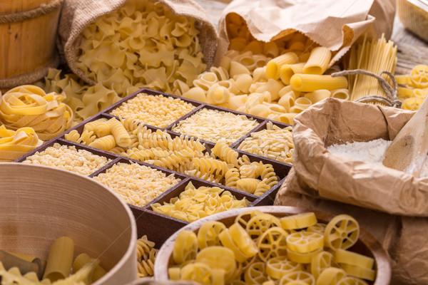 Foto stock: Macarrão · caixa · comida · fundo