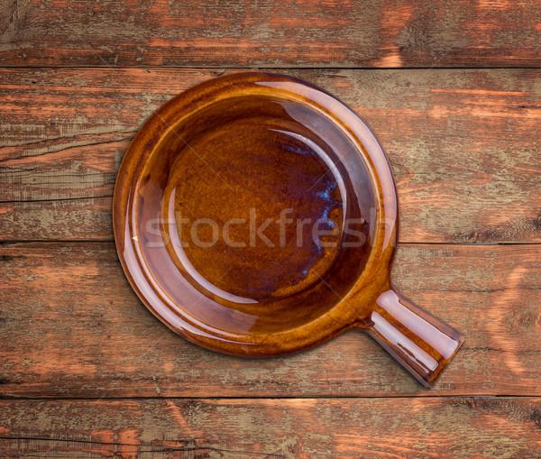 чаши обрабатывать коричневый выветрившийся чистой Сток-фото © grafvision