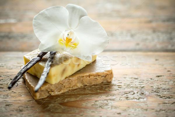Homemade vanilla soap Stock photo © grafvision