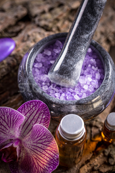 Essential oil and salt Stock photo © grafvision