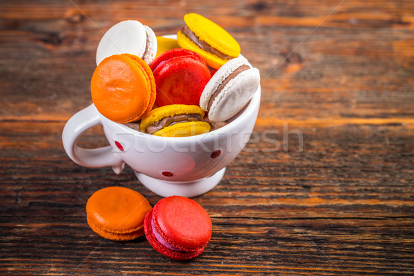 French colorful macarons  Stock photo © grafvision