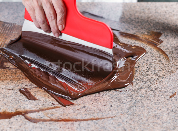 Tempering of the chocolate Stock photo © grafvision