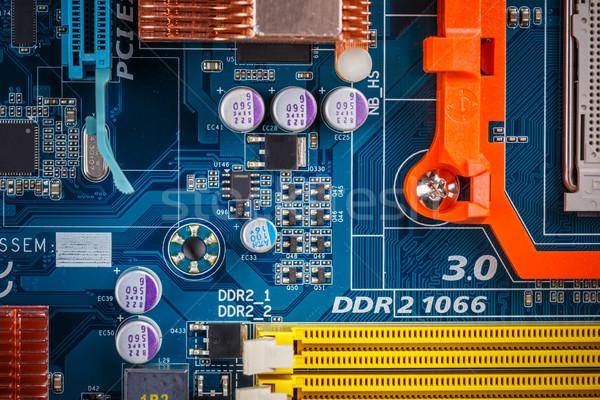 Cpu processore presa computer madre sfondo Foto d'archivio © grafvision