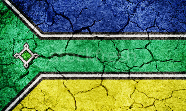 Brasil bandera secar tierra suelo textura Foto stock © grafvision