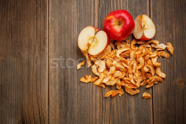 Frescos maduro manzana secado frutas Foto stock © grafvision