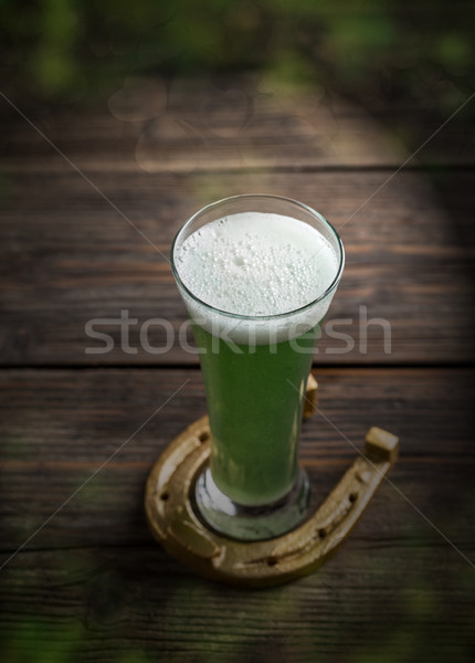 Cold green beer  Stock photo © grafvision