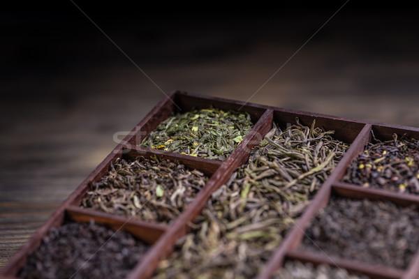 Asciugare tè legno finestra verde Foto d'archivio © grafvision