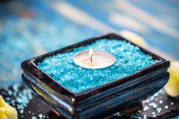 Stok fotoğraf: Deniz · tuzu · mum · aromatik · lezzet · çanak · deniz