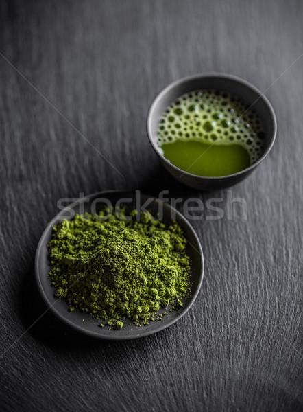 зеленый чай древесины зеленый пить черный темно Сток-фото © grafvision