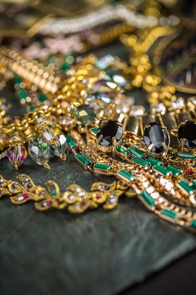 Fashionable female necklaces Stock photo © grafvision