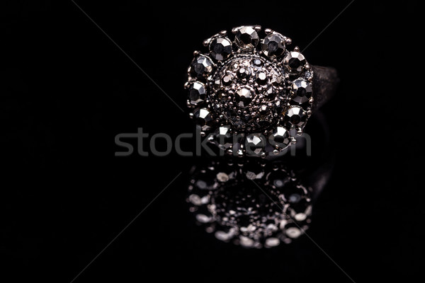 Ring with small glass stones Stock photo © grafvision