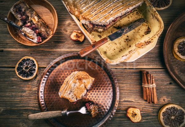 Freshly baked bread pudding  Stock photo © grafvision