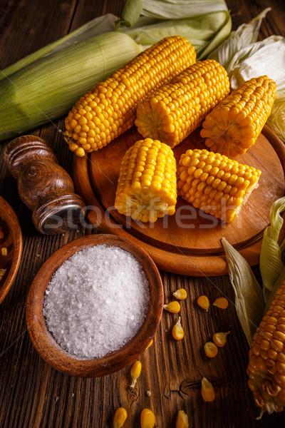 Boiled corn Stock photo © grafvision