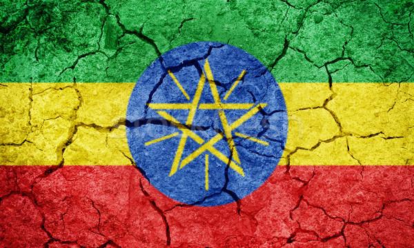 Fédéral démocratique république Ethiopie pavillon sécher Photo stock © grafvision
