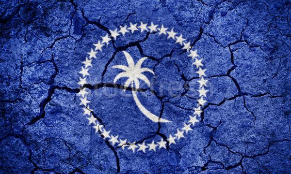 ミクロネシア フラグ 地球 地上 テクスチャ ストックフォト © grafvision